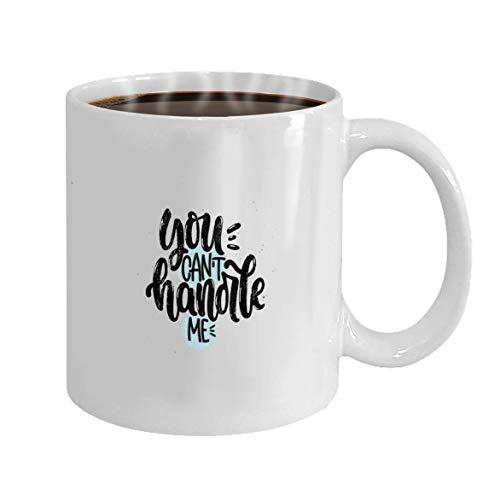 N\A Taza de café Divertida para el Mejor Amigo en Navidad - Vector de cerámica Blanca Dibujado a Mano Ilustración Letras Frases No Puedes manejarme Idea para Póster Postal