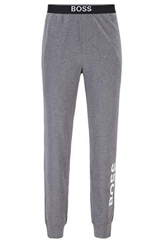 BOSS Herren Identity Pants Pyjama-Hose aus Stretch-Baumwolle mit vertikalem Logo