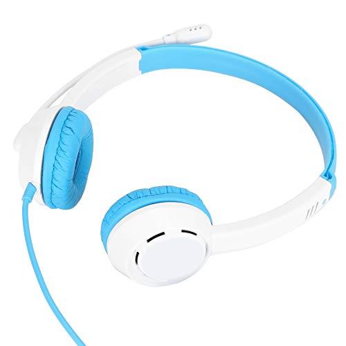 Rodipu Singal Directional Wired Headphones, Gaming Headphone, 3,5 mm Wired Noise Cancelling zum Musikstudium(White)