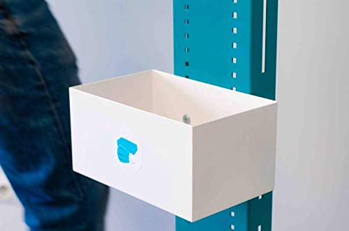 Hygiene-shop Top-Select Mundschutzmasken Universalbox aus pulverbeschichtetem Stahl