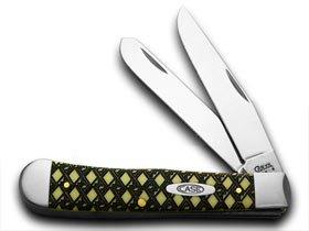 CASE XX Celtic Maze 1/1000 Yellow Trapper Pocket Knives