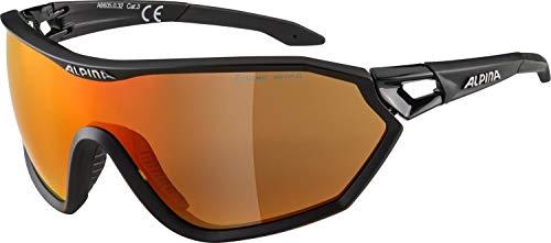 ALPINA S-WAY CM+ Sportbrille, Unisex– Erwachsene, black matt, one size