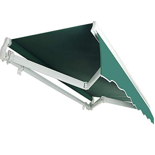 LWH Toldo de Sol,marquesina,150X150CM,marquesina Exterior,Escala manualFácil de Instalar,Plegable Protector Solar Impermeable Inclinación Libre de 30-70°