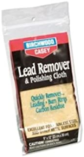 Birchwood Casey 31002 Lead Remover and Polishing Cloth, 6-Inch x 9-Inch
