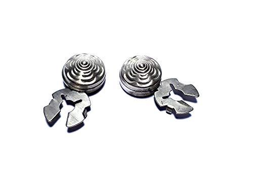artesanal 1 par de cubrebotones 18 mm diamante col. Plata antigua cubre botones para camisas mujer o puños joyas hombre de regalo llavero