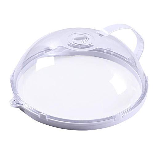 MOBNA Cubierta de Salpicadura de microondas, Cubierta de microondas para Alimentos con Agujero de ventilación de Vapor Ajustable a Alta Temperatura Resistente a la Caja Fuerte del lavavajillas