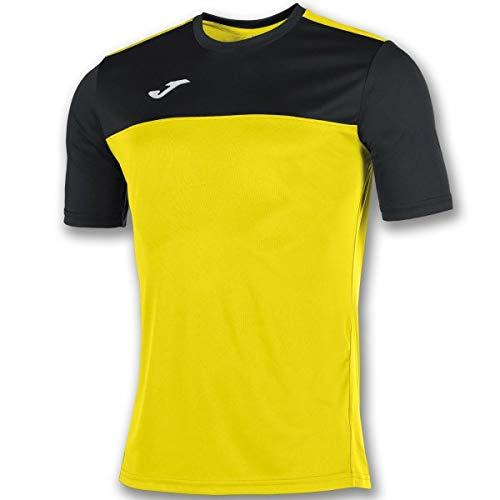 Joma Winner Camisetas Equip. M/C, Hombres, Amarillo/Negro, L