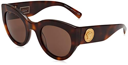 Versace 0Ve4353 Gafas de Sol, Havana, 51 para Mujer