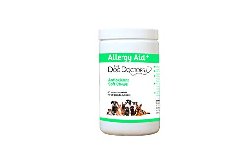 The Dog Doctors Allergy Aid Bitesized Soft Chews - Helps Relieve Itchy Irritated Skin & Seasonal Allergies - Specially Designed With Powerful Antioxidants To Support A Healthy Immune System.