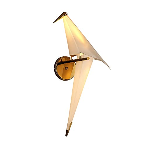 49cm Paper Crane Lighting 220VLED * 6W Lámpara Diseño creativo Origami Bird Lámpara de pared Lámpara de pared para sala de estar junto a la cama, luz blanca