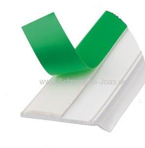 Flachleiste 50mm Kunststoff Weiß Gummiweichlippe selbstklebend (50x1.0mm - 5 lfm)