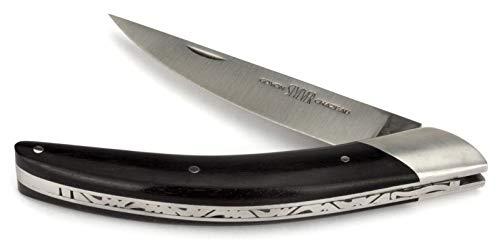 Goyon-Chazeau Thiers Messer - 12 cm Modell Styl'ver - Griff Ebenholz - Klinge 12C27 Sandvik Stahl - Taschenmesser Frankreich