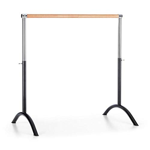 Klarfit Bar Lerina Ballet Bar, Free Standing, 43 x 44 inches, Suitable for Numerous Stretch and Movement Exercises, Anti-Slip, Steel, Black