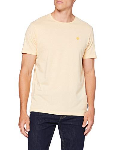 Springfield 5Ba Arbol Microstripe-c/08 Camiseta, Dorado (Gold/Mustard 8), L (Tamaño del Fabricante: L) para Hombre