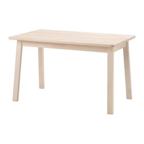 NORRÅKER - Tisch, weiß Birke