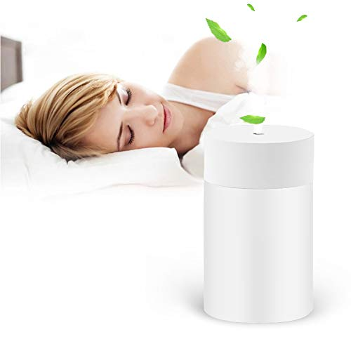 USB Luftbefeuchter, Mini Ultraschall Luftbefeuchter, ultra leiser 20 dB Raumbefeuchter mit Nachtlichtfunktion, geeignet für Babys, Zimmer, Büros, Yoga, Salons, Spas,Innenraum des Autos