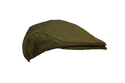 Walker and Hawkes - Boina Unisex de Tweed - Gorra de Estilo campiña Inglesa - Ideal para la hípica y la Caza - Salvia Oscuro - S (57cm)
