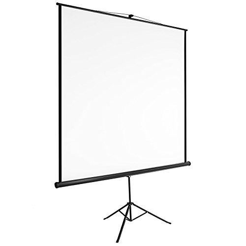 TecTake Heimkino Beamer Leinwand | HDTV tauglich - Diverse Größen - (203x203cm | Nr. 402515)