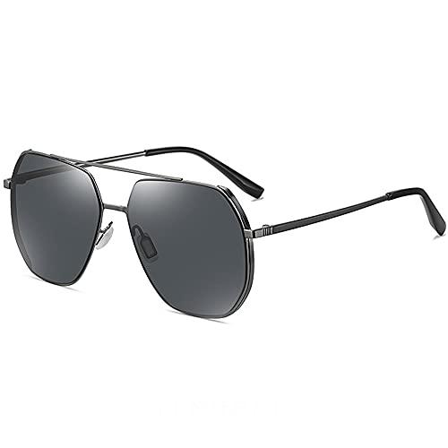 TTWLJJ Gafas de Sol Deportivas polarizadas para, Gafas de Sol para Conductores, Anti UV Ciclismo MTB Running Coche Moto Montaña,Negro
