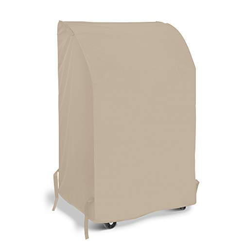 SunPatio Heavy Duty Waterproof Barbecue Gas Grill Cover, 55-inch BBQ Cover, Durable and Convenient, Fits Grills of Weber Char-Broil Nexgrill Brinkmann and More, 55'x23'x42', Beige