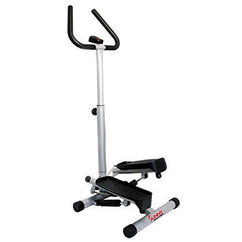 Sunny Health & Fitness NO. 059 Twist Stepper Step Machine w/Handle Bar and LCD Monitor (Renewed)