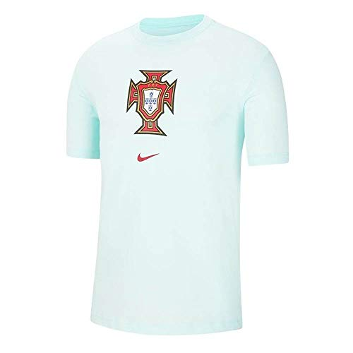 Nike 2020-2021 Portugal Evergreen Crest Tee (Mint)