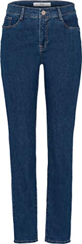 BRAX Damen Style Mary Five-Pocket-Jeans in Leichter qualität Summer Denim Crystal Slim Fit, Clean Regular Blue, 36K