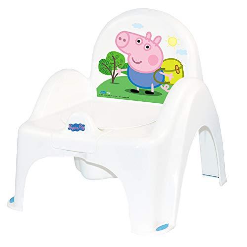 Tega Baby  Kinder-Töpfchen 6 Modele und Verschiedene Sets Töpfchen + Toilettensitz + Tritthocker Peppa Pig Wutz | rutschfest und besonders sicher, SET:Allein, Farbe:Stuhl Peppa - blau