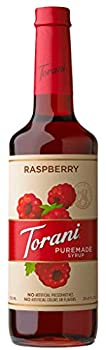 Torani Puremade Syrup Raspberry Flavor Glass Bottle Natural Flavors 25.4 Fl Oz 750 mL
