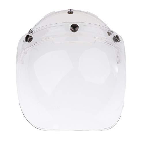 Visiera Casco Motocicletta Stile Bolla Bubble 3 Snap Bottoni Paravento per Bonanza Biltwell - 3