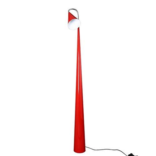 ZXC Home staande lamp voor slaapkamer, etui, ijzer, oogbescherming, zwaailicht, etages, familie, leeslamp, rood