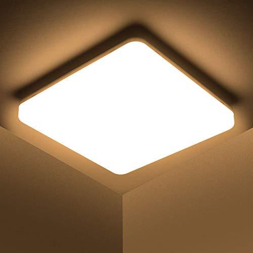 Kambo LED Lámpara de Techo 48W Moderna Cuadrada Plafon Techo Led Blanca Moderno Blanco Cálido 3000K Impermeable IP44 4320LM Para Baño Cocina Sala de Estar Dormitorio Pasillo Habitacion Comedor Balcón