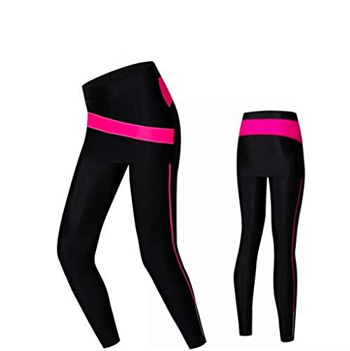 OLEEKA Pantalones de ciclismo de compresión con falda para mujer Medias de bicicleta MTB con pantalones de bicicleta acolchados con gel Pantalones ajustados para montar a caballo para niñas
