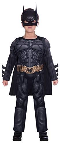 Disfraz de superhéroe para caballero oscuro Batman (edad 4-6 años)