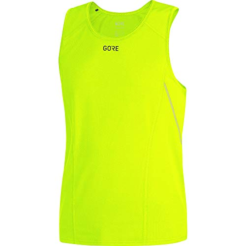 GORE WEAR Atmungsaktives, ärmelloses Herren Laufshirt, Gore R5 Sleeveless Shirt, Größe: M, Farbe: Neon-Gelb, 100152