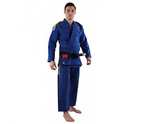 adidas Challenge 2.0BJJ de jiu-Jitsu brasileño/GI/Kimono/Traje/Selección de Colores/tamaños Selección, Azul