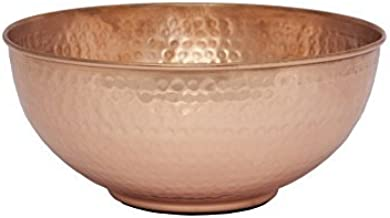 """GoCraft Pure Copper Mixing Bowl with Hammered Finish for Salad, Egg Beating, Decorative & Kitchen Serving Purposes - 7.5"""" ..."""