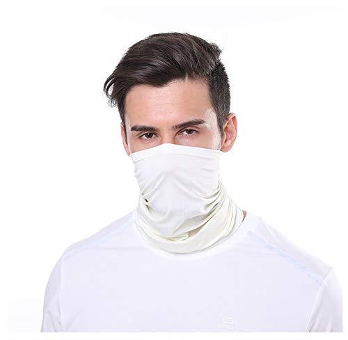 Outletissimo® - Pañuelo blanco crema para debajo del casco, fashion moda moto...