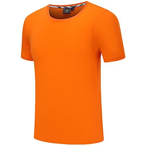 WBYFDC Camiseta 3D De Color Sólido para Hombres Y Mujeres Manga Corta Verano Calle Transpirable Casual Deportes Correr Cuello Redondo