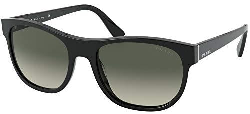 Prada 0PR 04XS Occhiali, Black/Light Grey Shaded, 56 Uomo