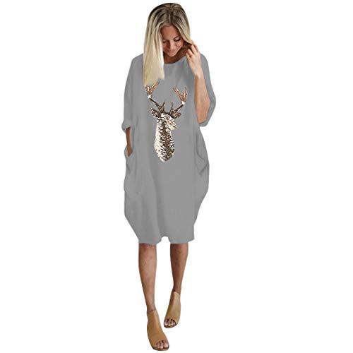 JUTOO Festliche Kleider schöne Kleider etuikleid Strickkleid Damen Kleider Sommerkleider Damen Elegante Kleider Lange Kleider blaues Kleid Kleid...