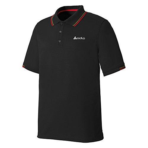 Odlo Sportswear arved Polo à Manches Courtes pour Homme M Noir - Noir