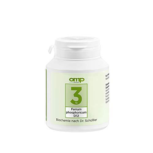 Schüssler Salz Nr. 3 Ferrum phosphoricum D12 | 400 Tabletten | Das Salz des Immunsystems und der Abwehrkraft | glutenfrei