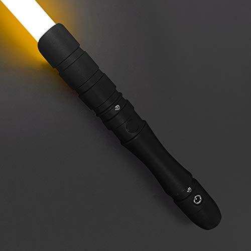 YDD Jedi Sith LED Light Saber, Force FX Heavy Dueling, Rechargeable Lightsaber, Loud Sound High Light with FOC, Metal Hilt, Blaster, (Orange)