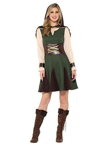Smiffys Lady Robin Hood Kostüm Größe M Damen Karneval Mittelalter Jägerin Medieval Hunter Gebraucht 47645