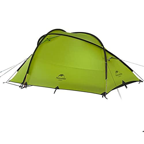 Naturehike公式ショップテント自立式Hiby2-3人用2ルーム超軽量広い前室タープスペース付き二重層構造アウトドアキャンプ登山防雨防風防災(グリーン)