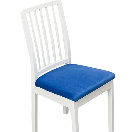 Stuhlbezüge 6 Stück Stoff, Stuhl Hussen, Keine Rückenlehne Stretch Abnehmbare Waschbar Stuhlbezug für Esszimmerstühle Stretch Stuhl Mit Gummiband für Esszimmer Sitzschutzbezug