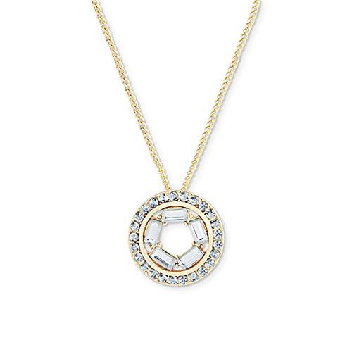 GutView Collares redondos para mujer, collar dorado de circonita brillante para mujer, joyería para el día de San Valentín, regalo de cumpleaños para mujer