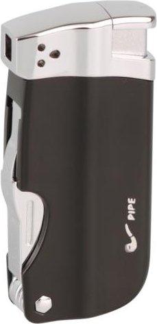 hochwertiges Feuerzeug Pfeifenfeuerzeug Passatore BH-P1000 mit integriertem Pfeifenbesteck