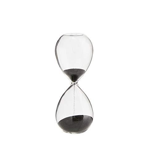 MADAM STOLTZ zandloper zwart, 5 minuten keukenklok of als decoratief element, 5x13 cm